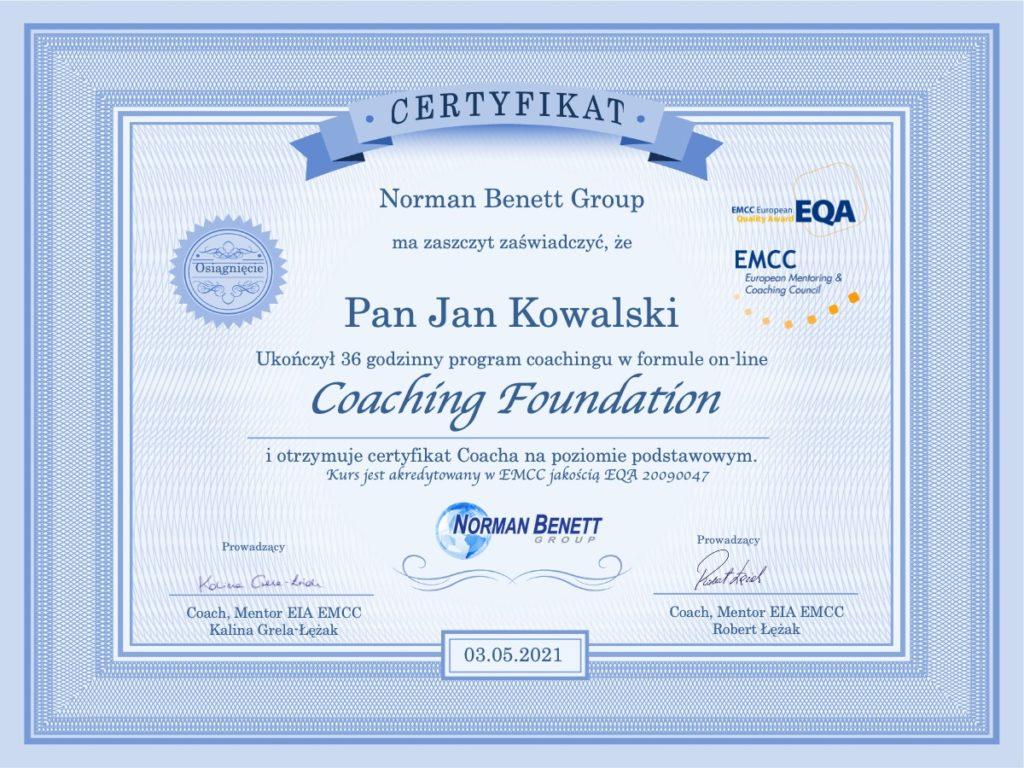 Kurs Podstawy coachingu on-line